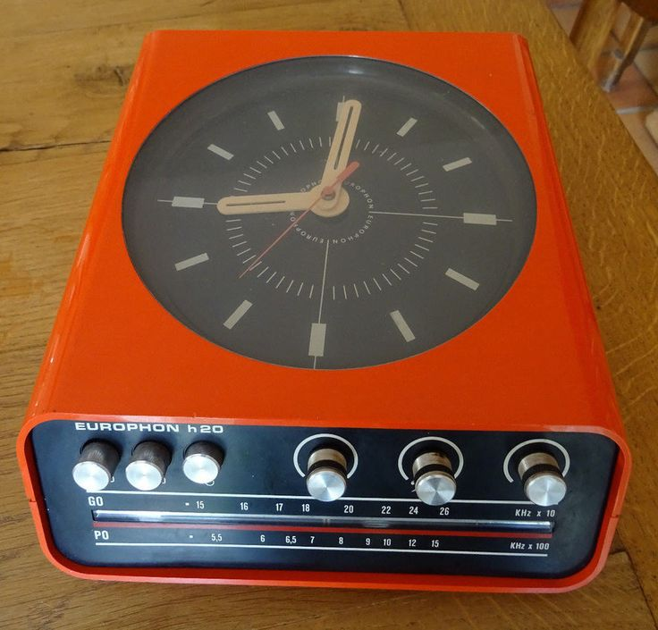RADIO -TSF- EUROPHON - h 20 -AVEC PENDULE - ANNEES 70 - BELLE COULEUR ORANGE - | Collections, Radios, TSF, Postes à lampes | eBay!