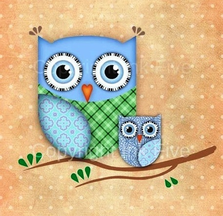 'Cute Owls' by Ink Five