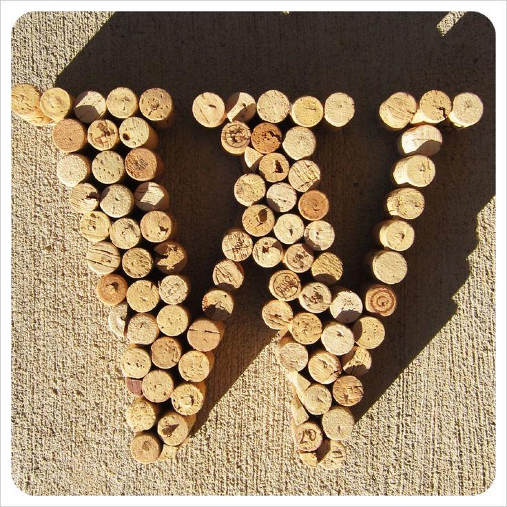 DIY with wine corks Wine Cork MonogramWine