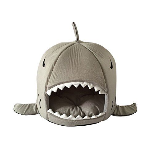 Evergreens Gray Shark Design Soft Pet Dogs Cotton Bed ** For more information, visit image link. (This is an Amazon affiliate link)