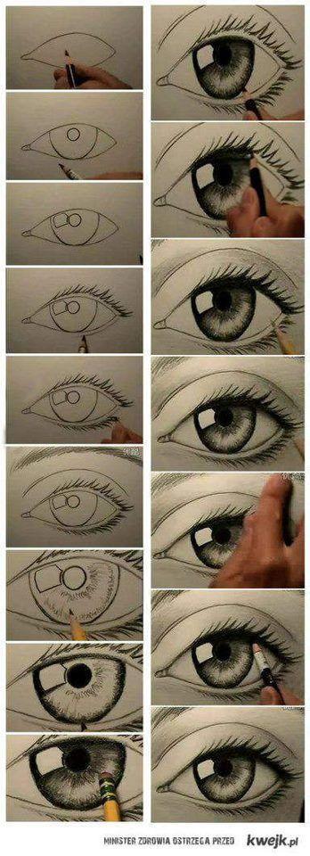 como desenhar o olho humano