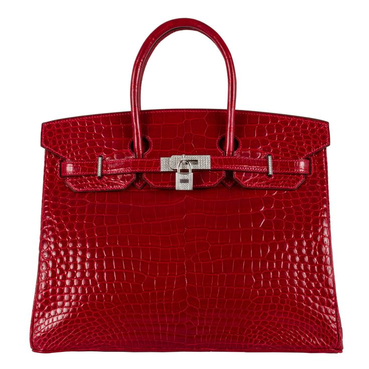 ust 10 months after a pink crocodile Hermès Birkin bag sold for a record $222,000 at auction through Christie's, another Birkin has toppled its price to become the new most expensive handbag resold in the world. The new record holder, which was sold through Florida-based luxury bag dealer Privé Porter for $298,000 to an anonymous buyer in Los Angeles, is a 35-centimeter Birkin from 2008 in rouge Braise croc skin with 18-karat white gold and diamond hardware. According to the seller, the bag…