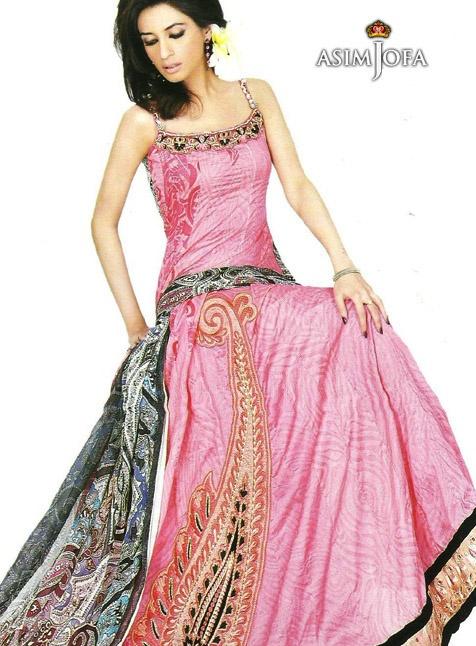 Asim Jofa - Pink and grey Beautiful Dress