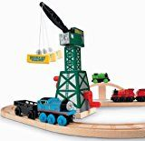 Thomas Wooden Railway - Cranky The Crane - http://toydashboard.com/toys-games/toy-remote-control-play-vehicles/play-trains-railway-sets/thomas-wooden-railway-cranky-the-crane-com/