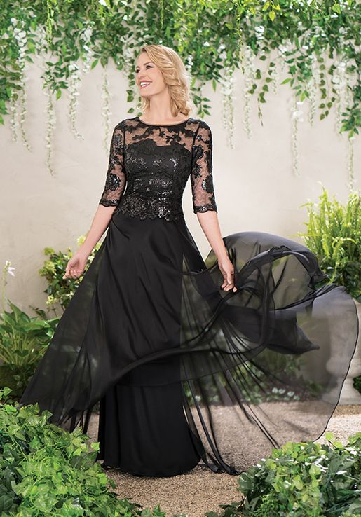 c949a349c9 Jade J195014 Black Mother Of The Bride Dress