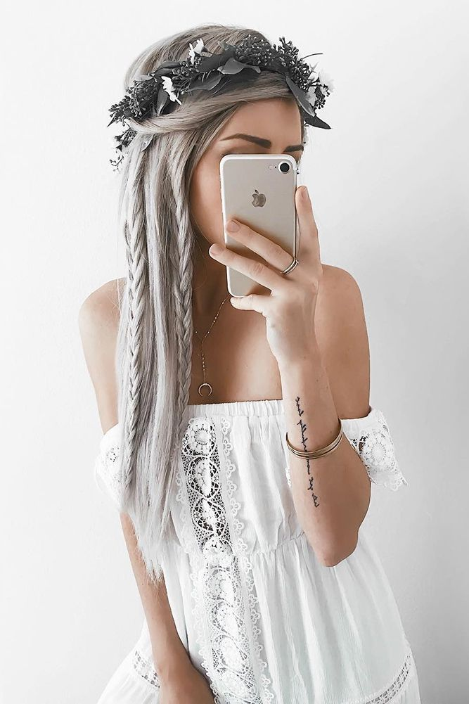 30 Overwhelming Boho Wedding Hairstyles ❤️ boho wedding hairstyles bohemian half up half-dwon with braids and flower crown emiyrose ❤️ See more: http://www.weddingforward.com/boho-wedding-hairstyles/ #wedding #bride #weddinghairstyles #bohoweddinghairstyles