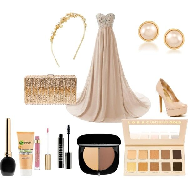 BRIDESMAID´s outfit by sweety-kami on Polyvore featuring Jessica Simpson, Dsquared2, Carolee, BCBGMAXAZRIA, LORAC, Guerlain, Lord & Berry and Miracle Skin Transformer