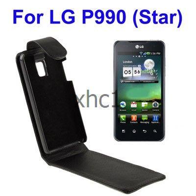 Мобильный телефон вверх и вниз кожаный чехол для LG звезда P990 мобильный телефон
