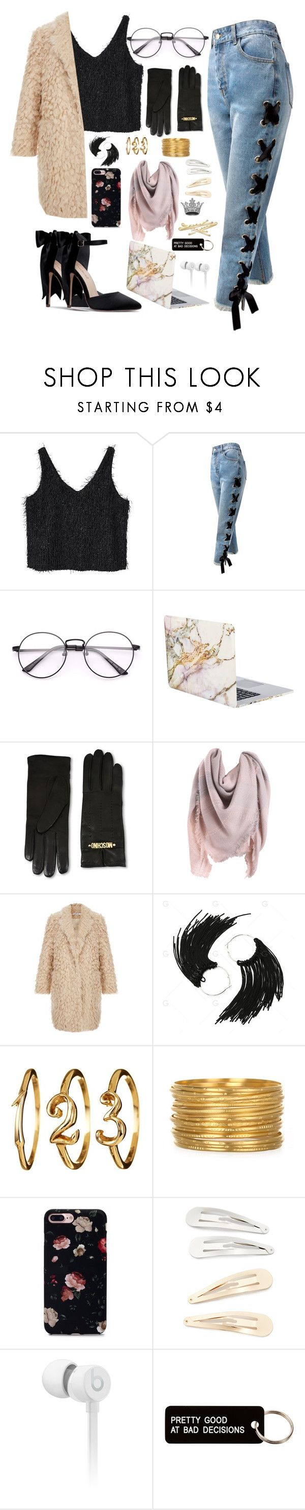 """Savage"" by skates03 ❤ liked on Polyvore featuring MANGO, Sans Souci, iHome, Moschino, Kitsch, Beats by Dr. Dre and Various Projects"