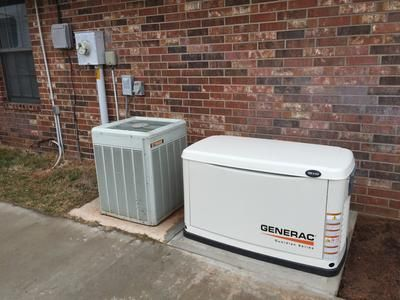 This Generac Guardian Series Standby Generator protects your home automatically 24/7. Runs on natural gas or liquid propane (LP) fuel, and sits outside just like a central air conditioning unit.