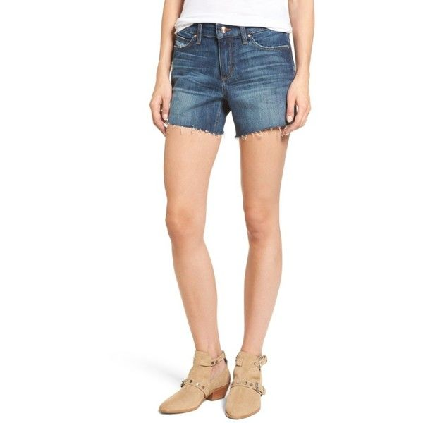 Women's Joe's Ozzie Cutoff Denim Shorts ($98) ❤ liked on Polyvore featuring shorts, maura, caribbean joe shorts, cut-off jean shorts, short cut off jean shorts, denim shorts and cutoff jean shorts