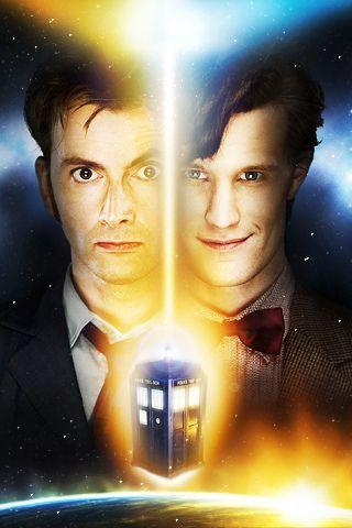 Matt Smith & David Tennant | Doctor Who iPhone 5 wallpaper