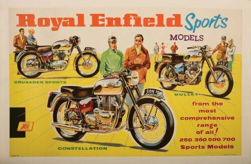 ROYAL ENFIELD VINTAGE CLASSIC POSTER