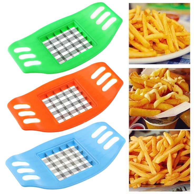 1Pcs Potato Chips Cutter Stainless Steel Vegetable Square Slicer Cutting Device