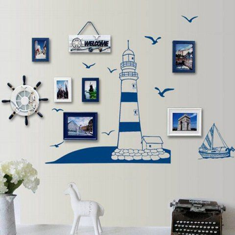 Stylish Creative DIY Lighthouse Pattern Home Decoration Decorative Wall Stickers