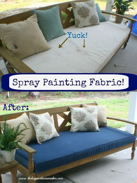 omg who knew you could spray paint fabric??