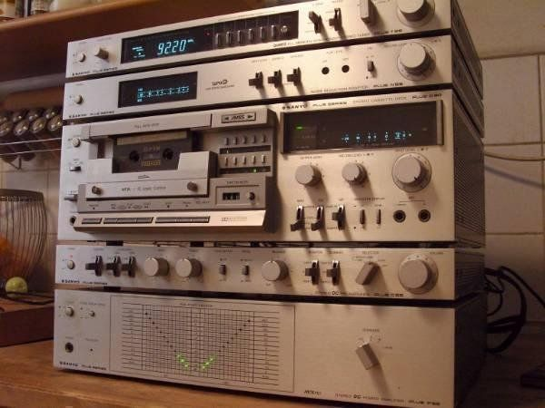 Sanyo Plus Series - T55/C55/P55/N55/D80/Q40 - rijetka kompletna linija Izuzetno rijedak kompletan Sanyo Plus Series vintage audio