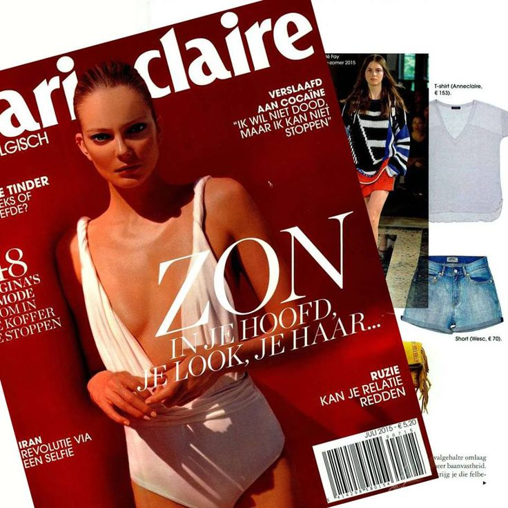 Summer essentials on Marie Claire België: #Anneclaire and denim.