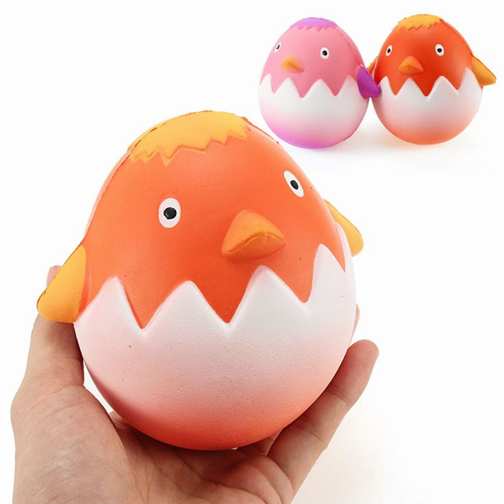 Squishy Chick Breaking Egg Chicken Baby Jumbo 12cm Slow Rising Collection Gift Decor Soft Toy
