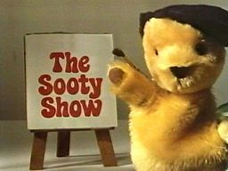 The Sooty Show-It features the glove puppet characters Sooty, Sweep (who first appeared in 1957) and Soo (first appeared in 1964), and follows them in their many mischievous adventures. The show was presented from the 1955 to 1975 by Harry Corbett, and from 1976 to 1992, by his son, Matthew  and acted as the token human being. In 1981 The Sooty Show changed from a sketch based format with a studio audience into a more sitcom based format with the house setting.