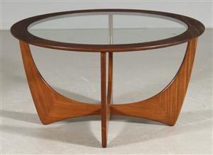 "Mid century coffee table. Teak and glass. ""Astro"" Lauritz.com"