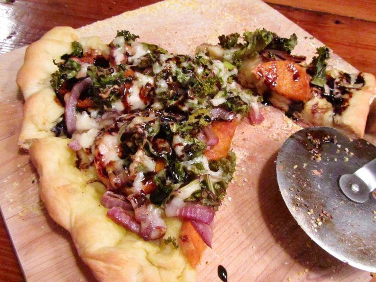 Kale pizza, Sweet potato kale and Kale on Pinterest