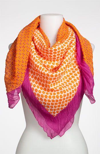 'Bright' Scarf Womens Orange Fuchsia One Size / Tarnish #scarf