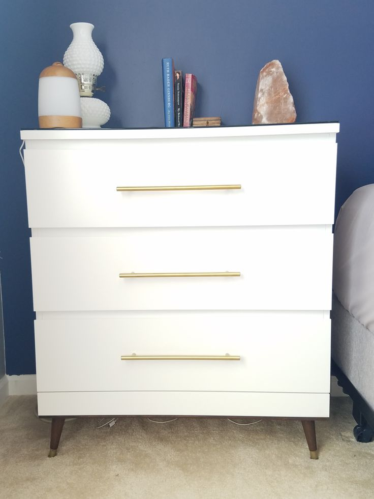 my diy mid century modern malm hack. Black Bedroom Furniture Sets. Home Design Ideas