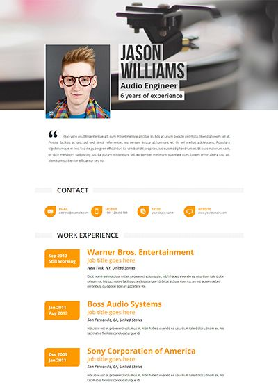 Resume Online Template 7 Best Resume Templates  Resumerepublic Images On Pinterest