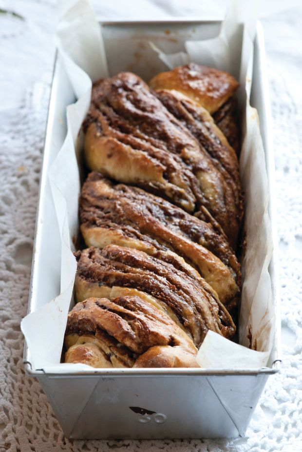 Halva and chocolate combine in this heavenly babka.  We all love chocolate babka, but try adding some halva and it takes it to another level.