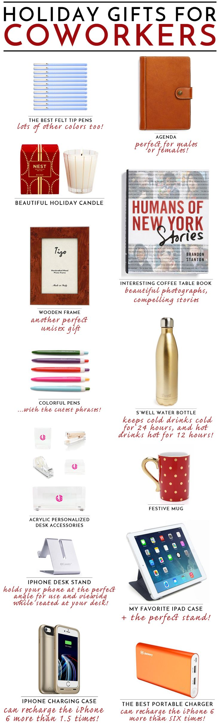 The best professional holiday gifts for coworkers // what to give colleagues this christmas and hanukkah!