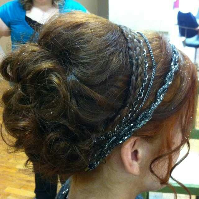 Another goddess hair up with headbands