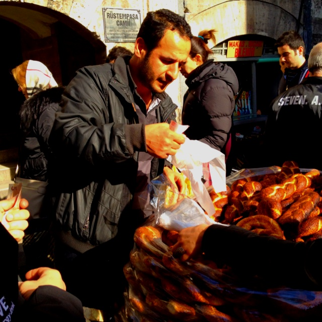Fresh hot bread off the Carr instanbul