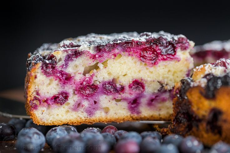 Blueberry Lemon Cake is so moist and soft. Every bite of this blueberry cake is bursting with juicy blueberry flavor. An easy, excellent tea or coffee cake!   natashaskitchen.com