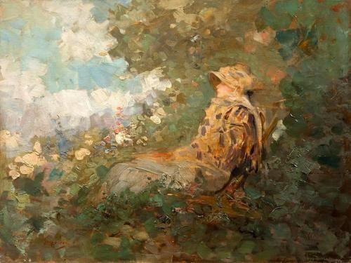 fleurdulys: Woman in the Garden - Nicolae Grigorescu 1880