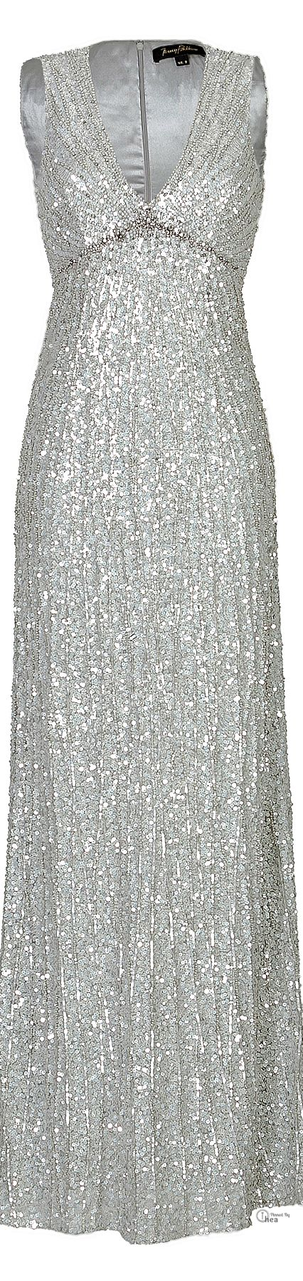 Jenny Packham ● Silver Sequin Gown