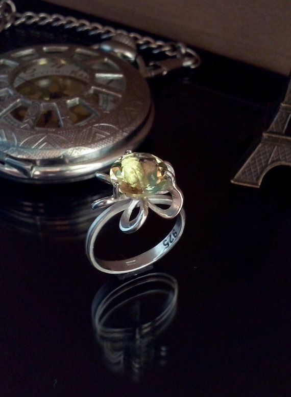 Handmade Ring Quartz and sterling silver TDR-76 by TommyDark