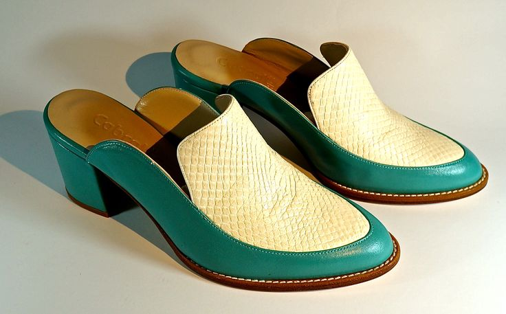 Hand-Made Leather Footwear. Lamb's Leather with snake scale Leather. LM-003