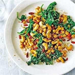 Chickpea And Spinach Salad With Cumin Recipes — Dishmaps