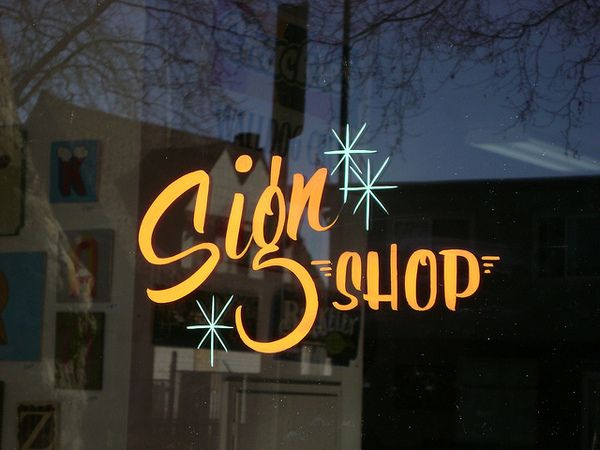 Sing Shop by Golden West Sign Arts.