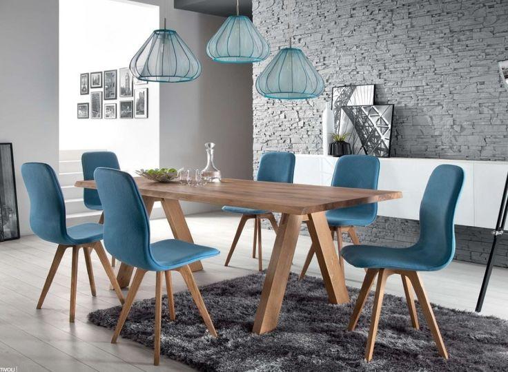 Schalenstuhl-stuhl-esszimmer-modern-blau-eiche-massiv-hellblau ... Esszimmer Elegant Und Modernbilder Galerie