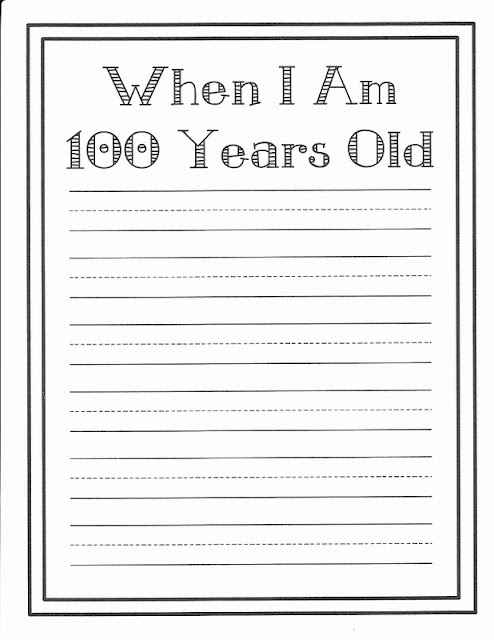 100 year old writing to go with 100 year old self portraits