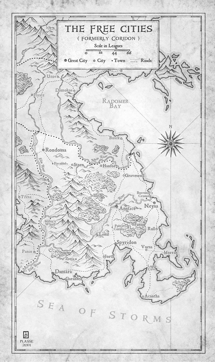 """The Free Cities - commission for the writer Matt Karlov  © 2014 - All rights rserved  """"Max took my rough sketches and turned them into a beautiful set of maps.  He was very professional and very accommodating of the various tweaks and adjustments I requested to get the maps just right.  I'm delighted with the end result, and I plan to hire Max again whenever I need any new maps."""" M.Karlov"""