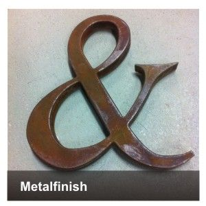 metalfinish metalen letters