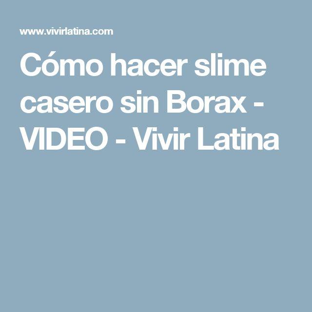 Cómo hacer slime casero sin Borax - VIDEO - Vivir Latina