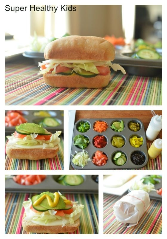 Our Way Mini Subs- Homemade Subway Sandwiches from Super Healthy Kids #sandwiches4kids #sandwichbar #buffet #kidsfood