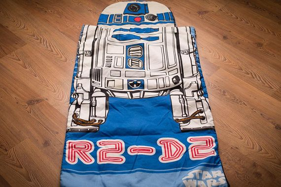 Star Wars R2-D2 Sleeping Bag, Kids' Size, Vintage 1980s, R2D2 Droid Robot, Space Bedding, Children's Room Home Decor, Camping, Sleepover Toy