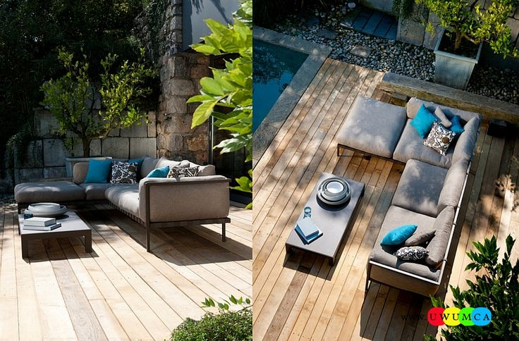 Outdoor / Gardening:Outdoor Design Trends 2014 Summer Furniture Decor Hot Tub Design Outdoor Sofa Chairs Cushions Table Ideas Backyard Lighting Landscape Gorgeous Natal Alu Sofa On The Patio Deck Newest Hot Outdoor Design Trends For Summer 2014