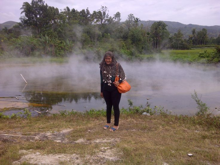 hot crater in kerinci, jambi, Indonesia