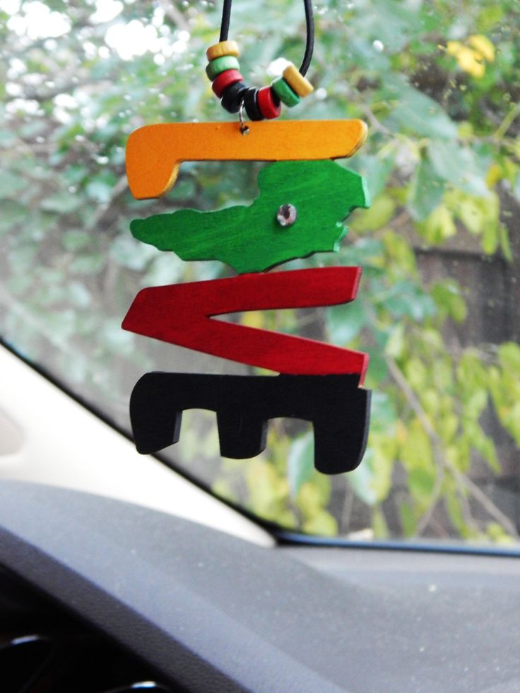 New to TheBlackerTheBerry on Etsy: Rasta Car Charm Africa Cute Car Accessories Rear Mirror Car Hanger African Car Charm